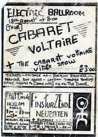 Cabaret Voltaire – Camden, London - Electric Ballroom, August 18, 1983
