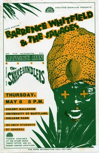 Barrence Whitfield & the Savages – College Park, MD – Colony Ballroom, Stamp Union, University of Maryland, May 8, 1986