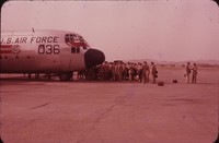 United States Air Force Plane 036, close-up of nose, undated