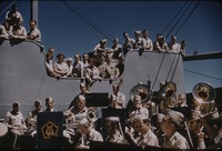 United States Field Band performing on ship, undated