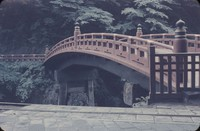 Bridge and garden in Japan, undated