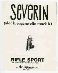 Severin concert flier, d.c. space, Washington, D.C., April 17, 1990