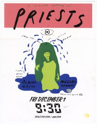 Priests concert flier, 9:30 Club, Washington, D.C., December 1, 2017