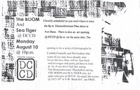 The Boom and Sea Tiger concert flier, DCCD, Washington, D.C., August 10, 1998