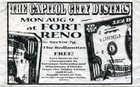 Capitol City Dusters, Sector 7G, and the Bedlamites concert flier – Fort Reno Park, Washington, D.C., August 9, 1999