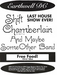 Shift and Chamberlain concert flier – Happy Hardcore House, Washington, D.C., circa 1996