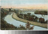 James River and Canal from Hollywood, Richmond, Virginia, 1907-1908