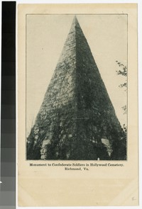 Monument to Confederate soldiers in Hollywood Cemetery, Richmond, Virginia, 1901-1907