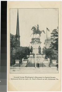 General George Washington's monument in Capitol Square, Richmond, Virginia, 1901-1907