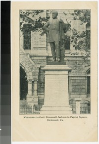 Monument to General Stonewall Jackson in Capitol Square, Richmond, Virginia, 1901-1907