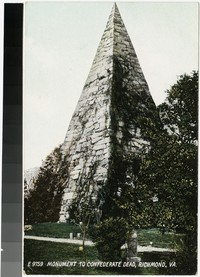 Monument to Confederate dead, Richmond, Virginia, 1907-1914
