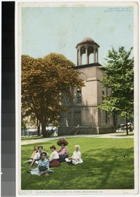 Old bell tower, Capitol Park, Richmond, Virginia, 1908-1914