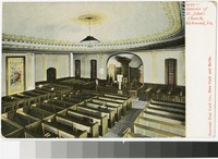 Interior of St. John's Church, Richmond, Virginia, 1901-1907