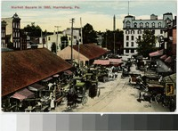 Market Square in 1860, Harrisburg, Pennsylvania, 1907-1914