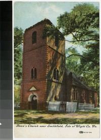 Benn's Church near Smithfield, Isle of Wight County, Virginia, 1907-1914