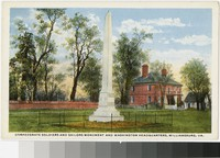 Confederate Soldiers and Sailors Monument and Washington headquarters, Williamsburg, Virginia, 1907-1914