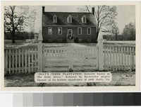 Gray's Creek Plantation, formerly known as the Rolfe House, Surry, Virginia, 1907-1914