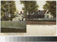 "Site of the first theater in America and the ""Audrey House"", Williamsburg, Virginia, 1898-1901"