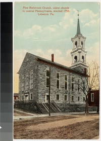 First Reformed Church, oldest church in central Pennsylvania, erected 1793, Lebanon, Pennsylvania, 1907-1914