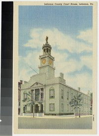 Lebanon County Court House, Lebanon, Pennsylvania, 1907-1914