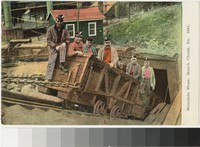 Coal miners outside of mine in Mauch Chunk, Pennsylvania, 1907-1914