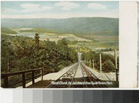 Switchback from top of Jefferson Plain, Mauch Chunk, Pennsylvania, 1901-1907