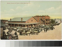 Market House and Kepler Hotel, Meadville, Pennsylvania, 1907-1914