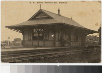 Railroad Station, Delaware City, Delaware, 1907-1912