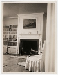 Harmony Hall fireplace after restoration, Fort Washington, Maryland, circa 1933