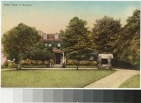 Front view of mansion at Friendship Hill, New Geneva, Pennsylvania, 1907-1914