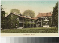 Rear view of mansion at Friendship Hill, New Geneva, Pennsylvania, 1907-1914