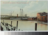 Harlan and Hollingsworth Company's shipyard, Wilmington, Delaware, 1907-1914