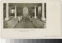 Interior of Old Swedes' Church, Wilmington, Delaware, 1901-1907