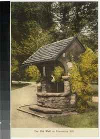 The old well at Friendship Hill, near New Geneva, Pennsylvania, 1907-1914