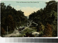 View on Harmony Line, New Castle, Pennsylvania, 1907-1914