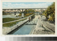 View on Schuylkill Canal, Norristown, Pennsylvania, 1901-1907
