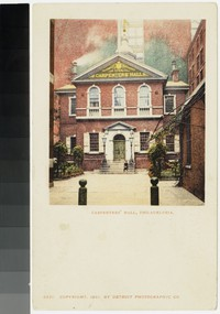 Carpenters' Hall, Philadelphia, Pennsylvania, 1901
