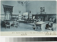 Supreme Court Room at City Hall, Philadelphia, Pennsylvania, 1907