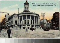 Merchants' old stock exchange, 3rd and Dock Streets, Philadelphia, Pennsylvania, 1907-1914