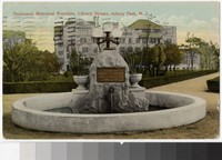 Tenbroeck Memorial Fountain, Library Square, Asbury Park, New Jersey, 1907-1914