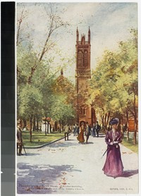 """Easter Morning"", Rittenhouse Square and Holy Trinity Church, Philadelphia, Pennsylvania, 1906-1907"