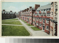 Triangle courtyard, University of Pennsylvania, Philadelphia, Pennsylvania, 1915-1930