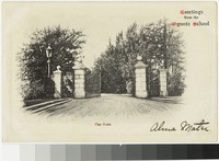 Gate, Ogontz School, Philadelphia, Pennsylvania, 1901-1907