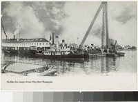 Water front, League Island Navy yard, Philadelphia, Pennsylvania, 1907-1914