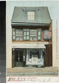 Betsy Ross' house, Philadelphia, Pennsylvania, 1901-1905