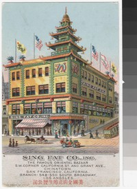 Sing Fat Company, San Francisco, California, 1907-1914