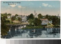 Rockaway River and bridge, Boonton, New Jersey, 1907-1914