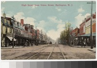 High Street from Union Street, Burlington, New Jersey, 1907-1913
