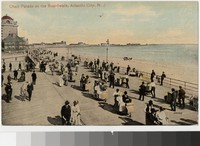 Chair parade on the boardwalk, Atlantic City, New Jersey, 1907-1914