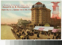 Annual Grand Army of the Republic Encampment and boardwalk, Atlantic City, New Jersey, 1910